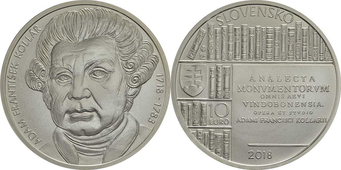 Slowakei : 10 Euro Adam Frantisek Kollar  2018 Stgl.