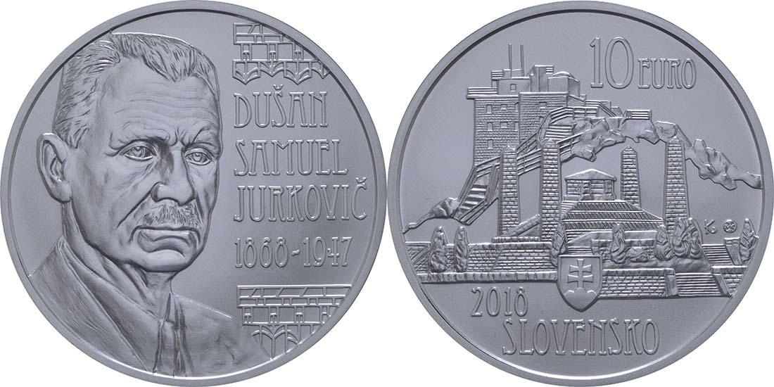 Übersicht:Slowakei : 10 Euro Dusan Samuel Jurkovic  2018 Stgl.