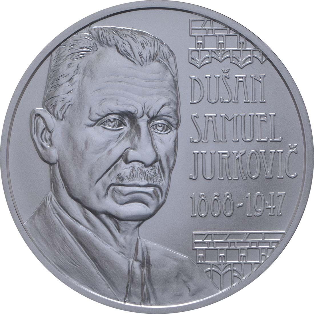 Vorderseite:Slowakei : 10 Euro Dusan Samuel Jurkovic  2018 Stgl.