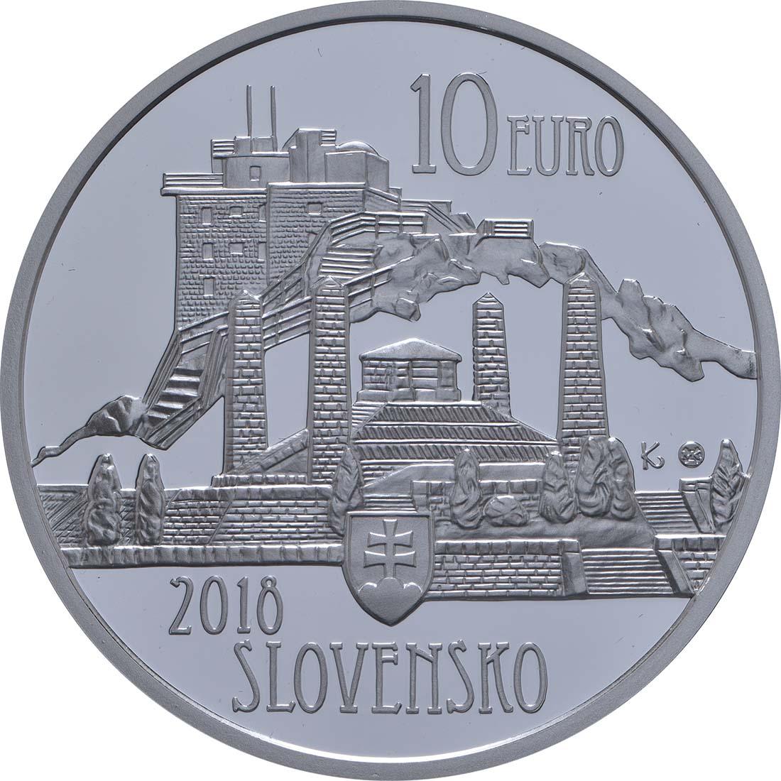 Rückseite:Slowakei : 10 Euro Dusan Samuel Jurkovic  2018 PP
