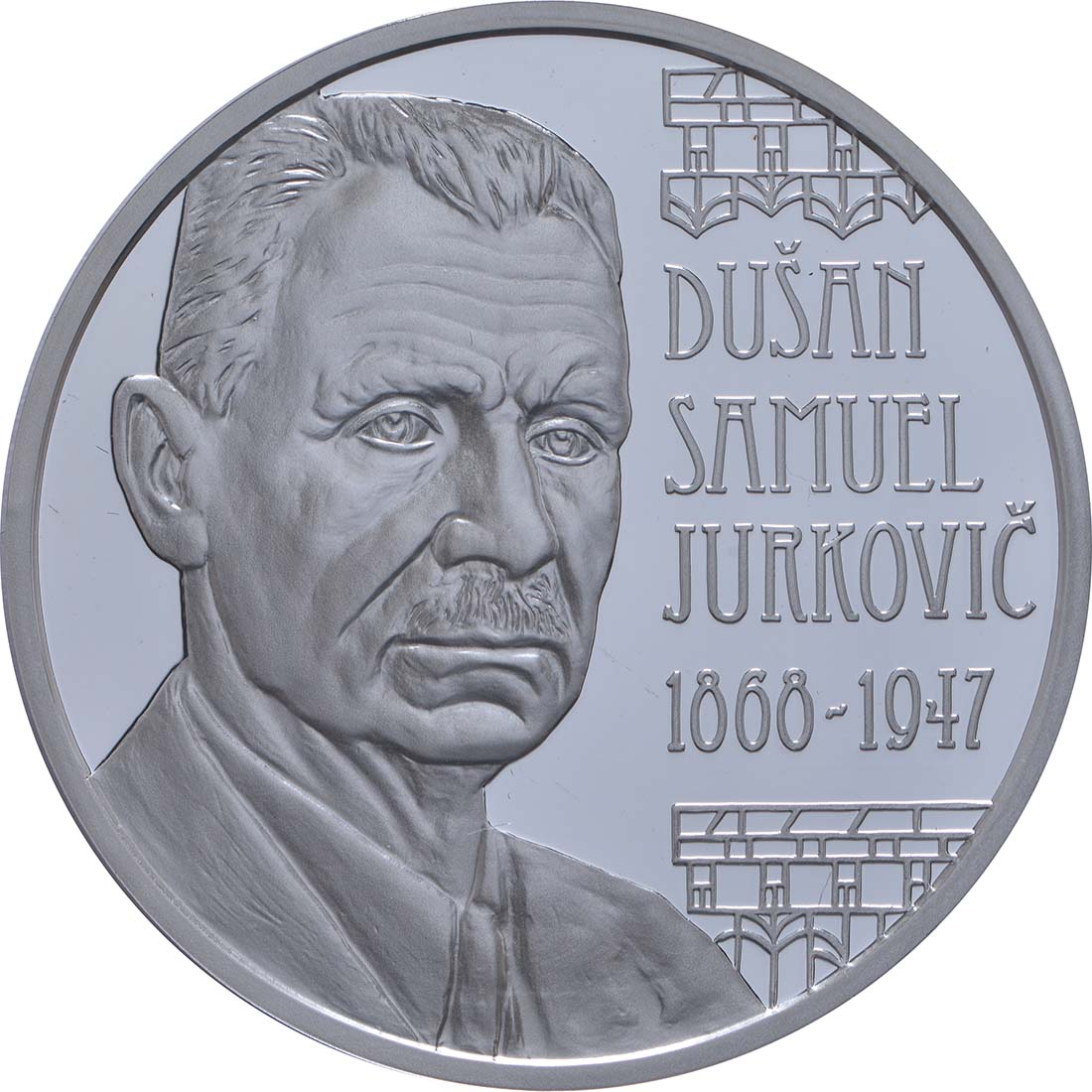 Vorderseite:Slowakei : 10 Euro Dusan Samuel Jurkovic  2018 PP