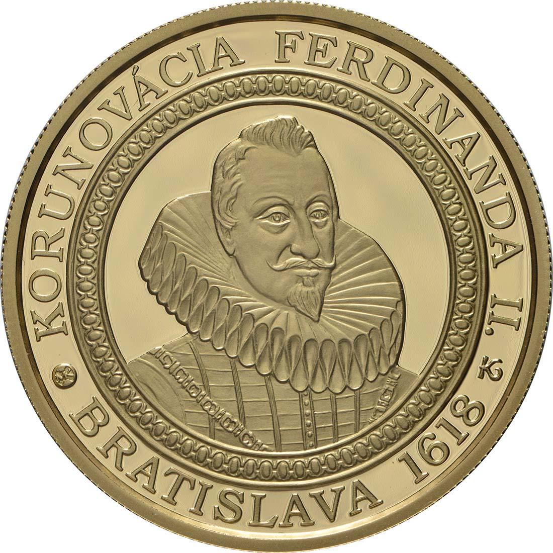 Vorderseite:Slowakei : 100 Euro 400. Jahrestag der Krönung von Ferdinand II  2018 PP