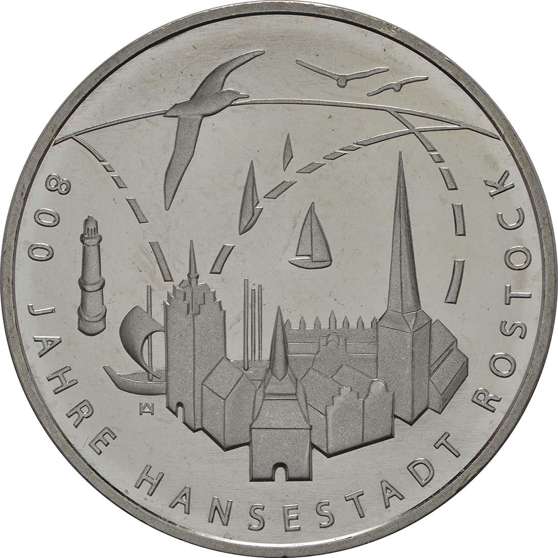Vorderseite:Deutschland : 20 Euro 800 Jahre Hansestadt Rostock  2018 bfr