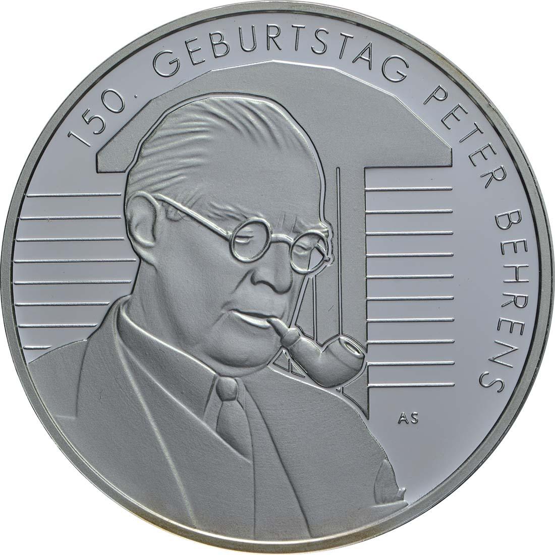 Vorderseite:Deutschland : 20 Euro 150. Geburtstag Peter Behrens  2018 PP