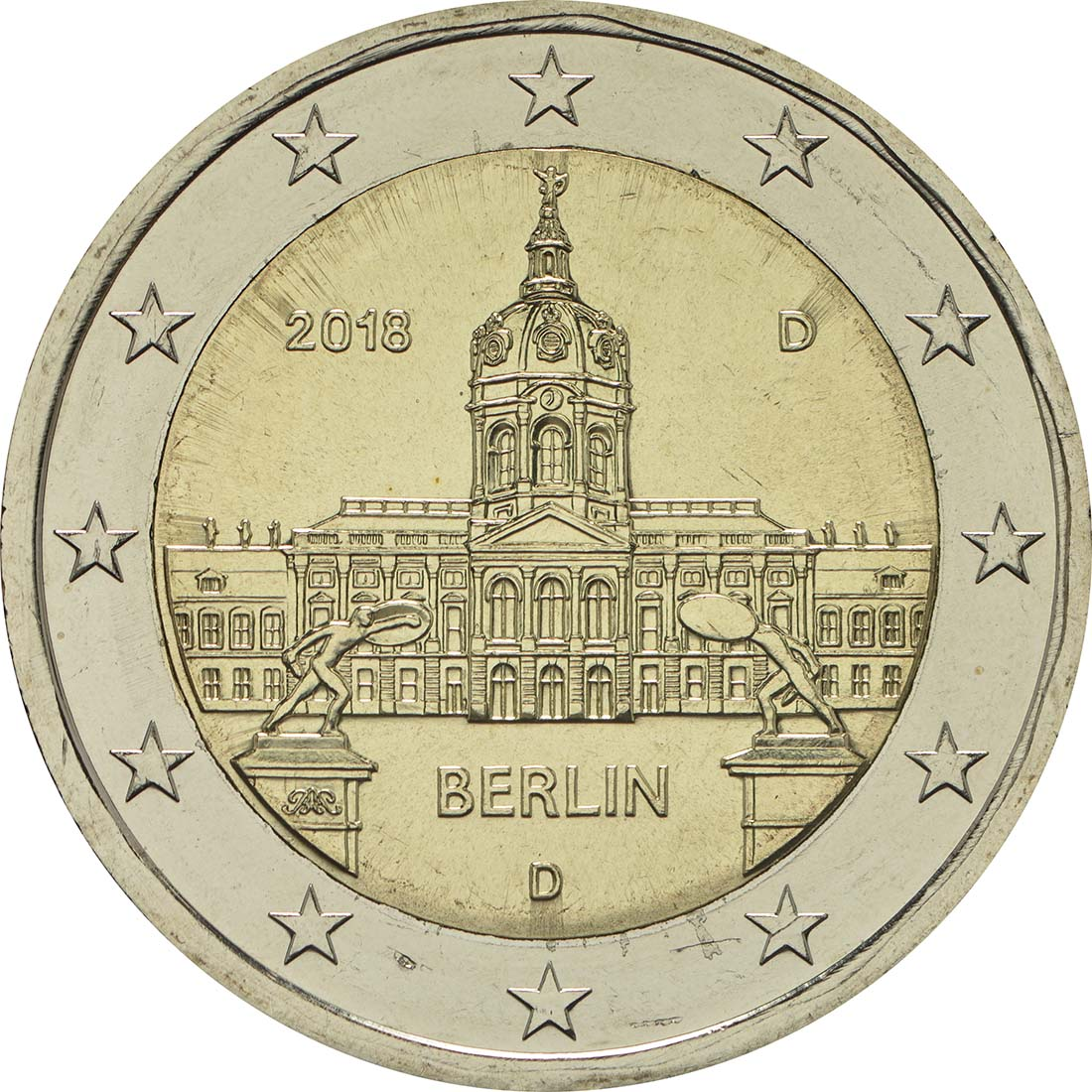 Rückseite:Deutschland : 2 Euro Berlin - Schloss Charlottenburg  2018 bfr