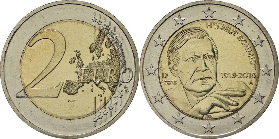 Lieferumfang:Deutschland : 2 Euro Helmut Schmidt  2018 bfr