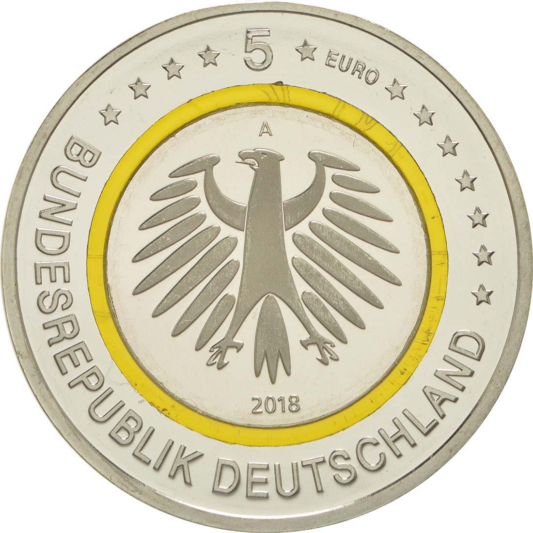 Rückseite:Deutschland : 5 Euro Subtropische Zone  2018 PP
