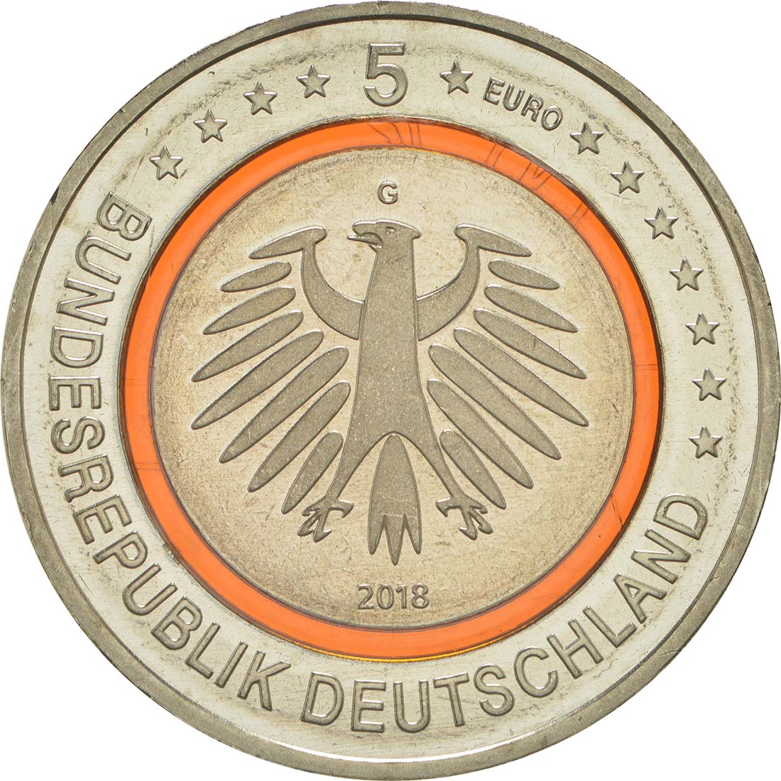 Rückseite:Deutschland : 5 Euro Subtropische Zone  2018 bfr