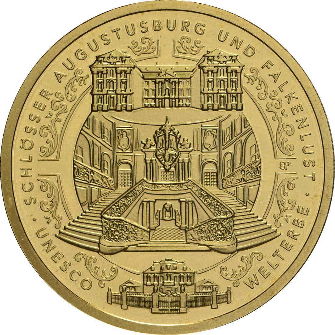 Vorderseite:Deutschland : 100 Euro Schlösser Augustusburg und Falkenlust in Brühl  2018 Stgl.