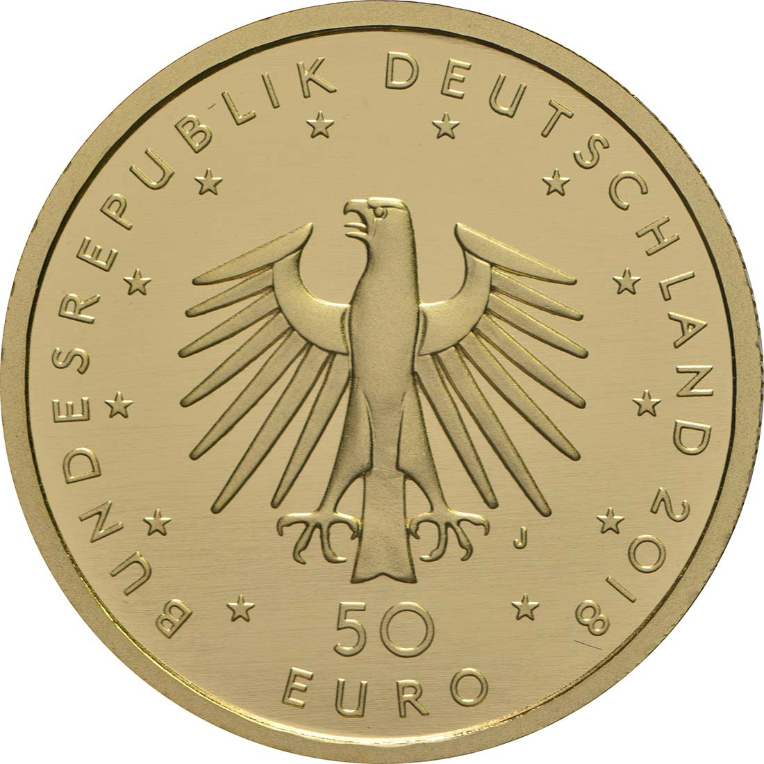Rückseite:Deutschland : 50 Euro Kontrabass Buchstabe unserer Wahl  2018 Stgl.