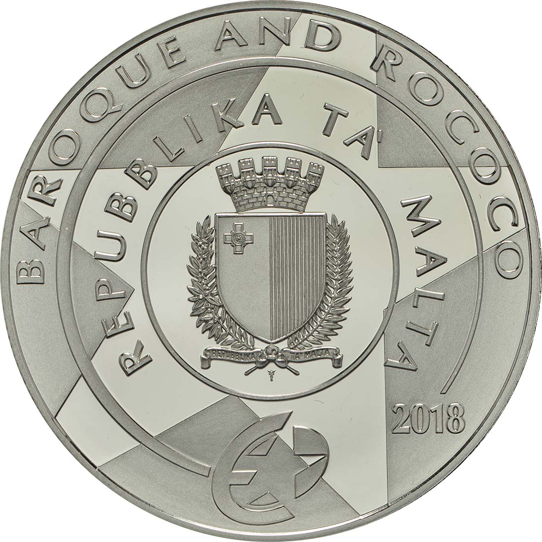 Rückseite :Malta : 10 Euro Taufe Christi  2018 PP