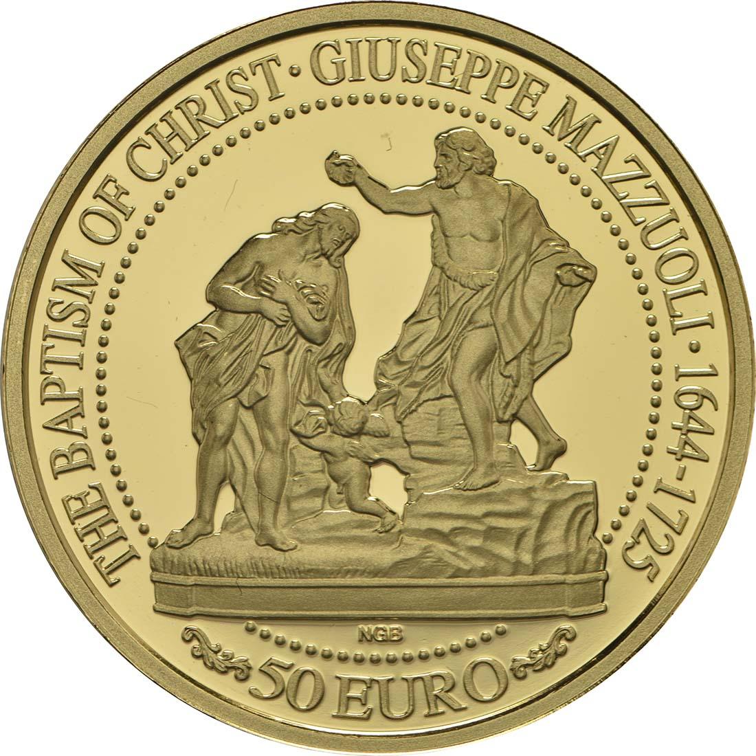 Vorderseite :Malta : 50 Euro Taufe Christi  2018 PP
