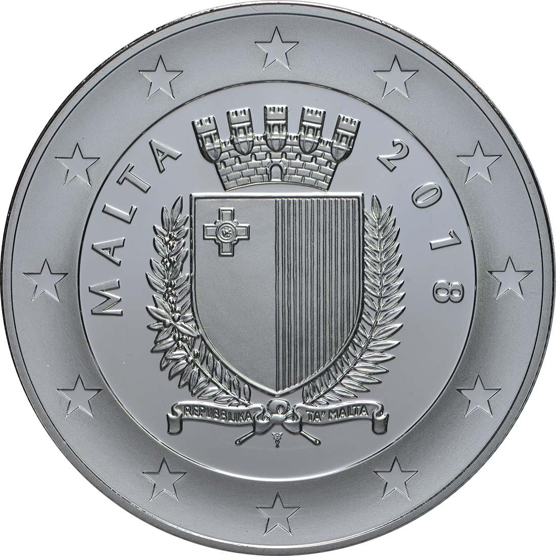 Rückseite:Malta : 10 Euro Kulturhauptstadt Valletta  2018 PP