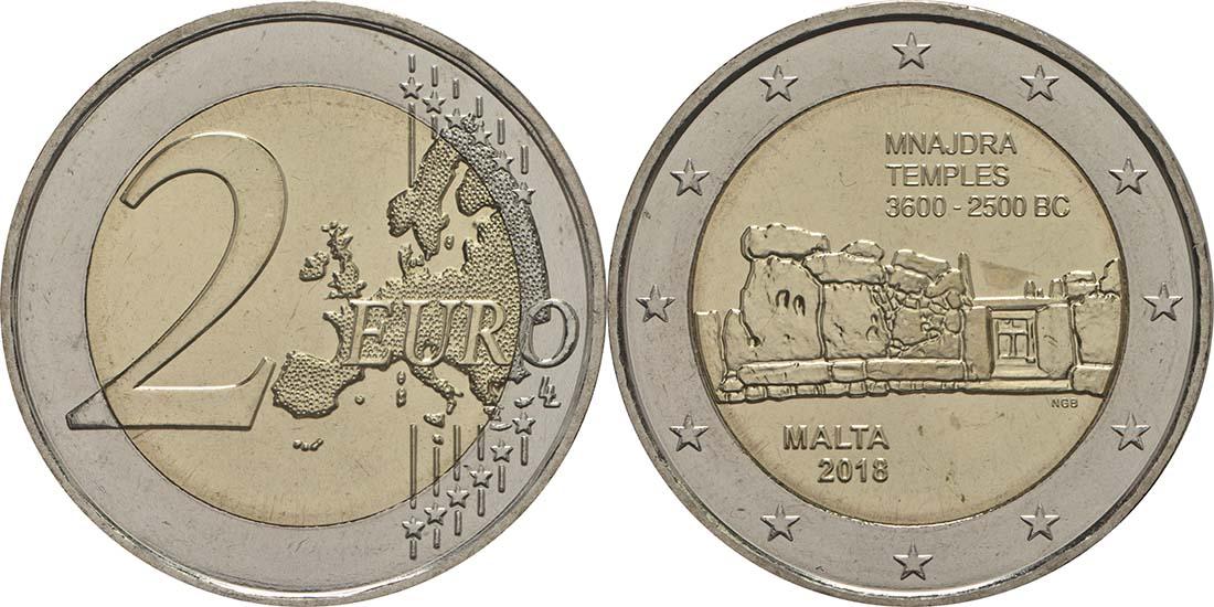 Malta : 2 Euro Mnajdra  2018 bfr