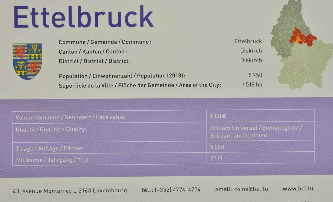 Zertifikat:Luxemburg : 5,88 Euro KMS Luxemburg Ettelbrück Münzzeichen Brücke !  2018 Stgl.