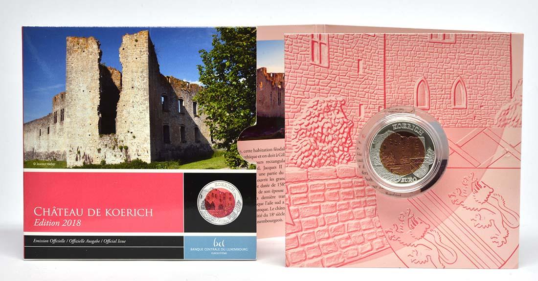 Lieferumfang:Luxemburg : 5 Euro Schloss Koerich  2018 PP