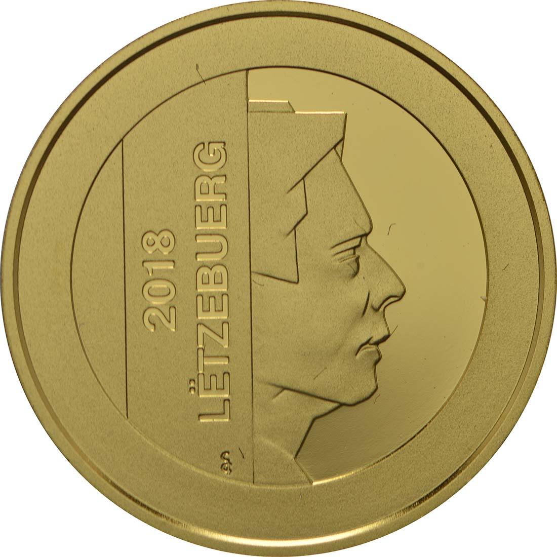 Vorderseite:Luxemburg : 2,5 Euro 20 Jahre Luxemburger Zentralbank  2018 PP