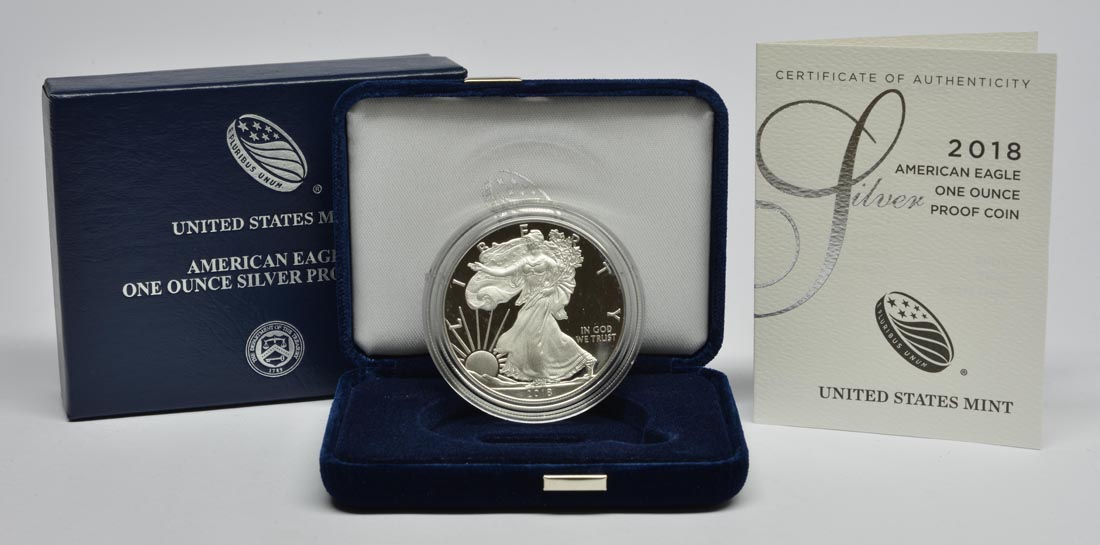 USA : 1 Dollar Silber Eagle  2018 PP