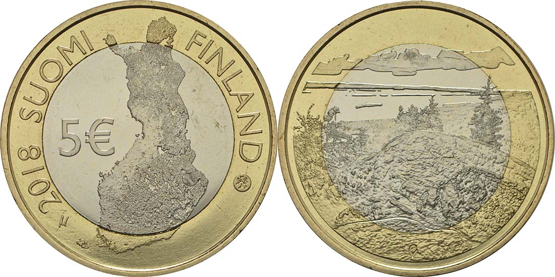 Lieferumfang:Finnland : 5 Euro Koli National Park  2018 bfr