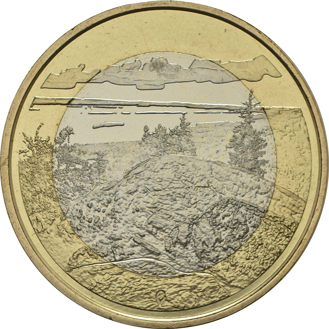 Vorderseite:Finnland : 5 Euro Koli National Park  2018 bfr
