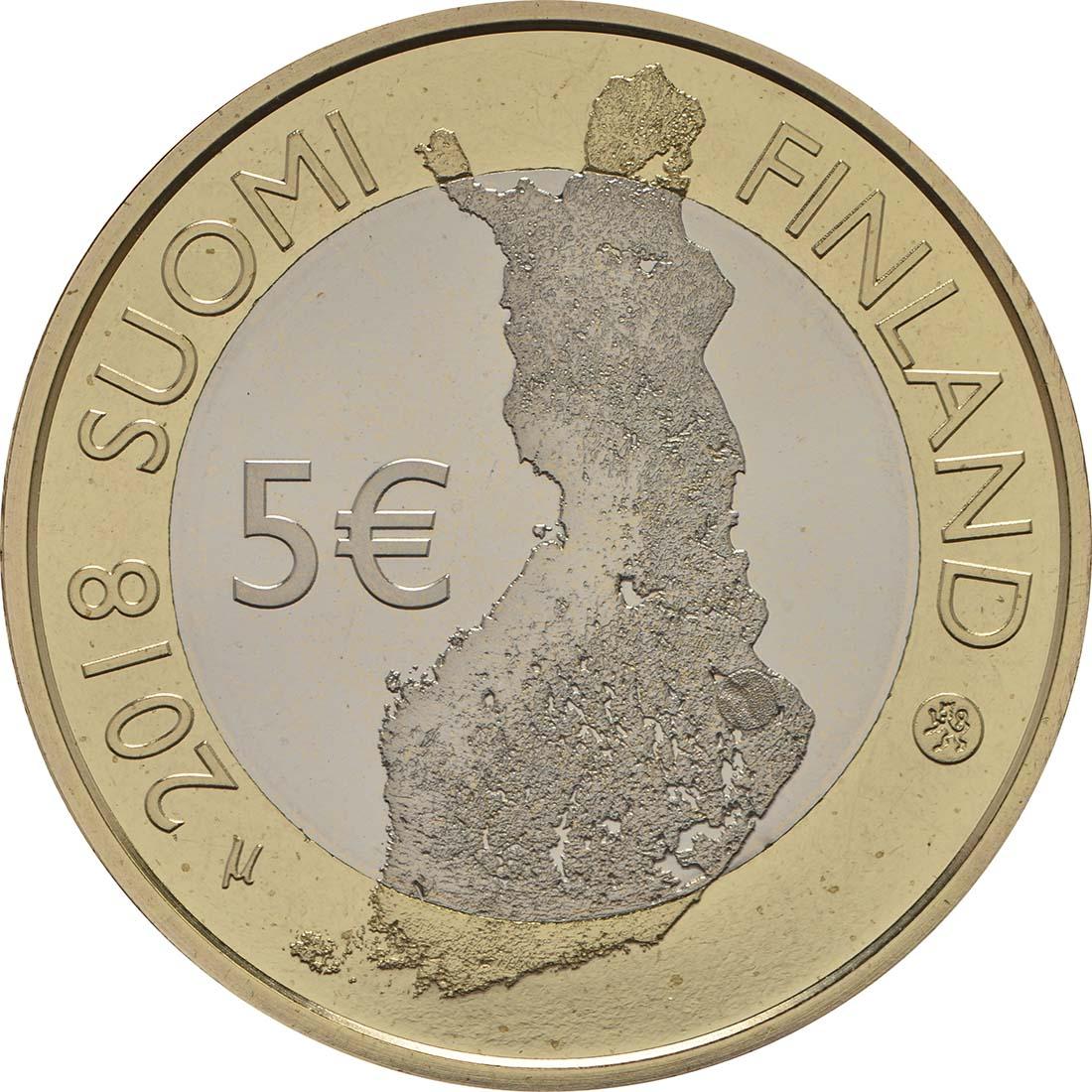 Rückseite:Finnland : 5 Euro Koli National Park  2018 PP