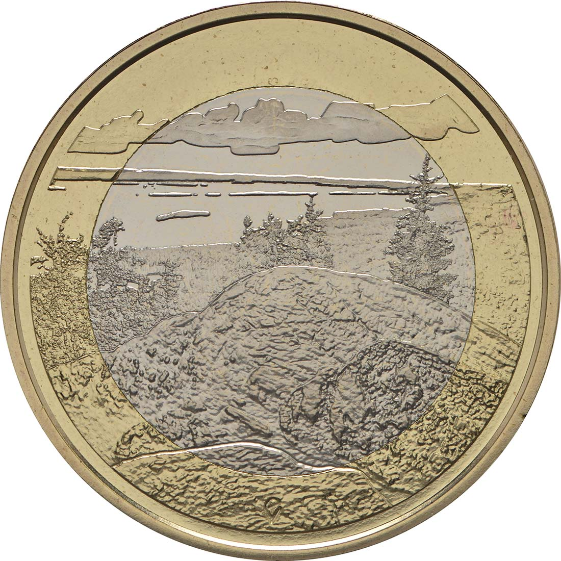 Vorderseite:Finnland : 5 Euro Koli National Park  2018 PP