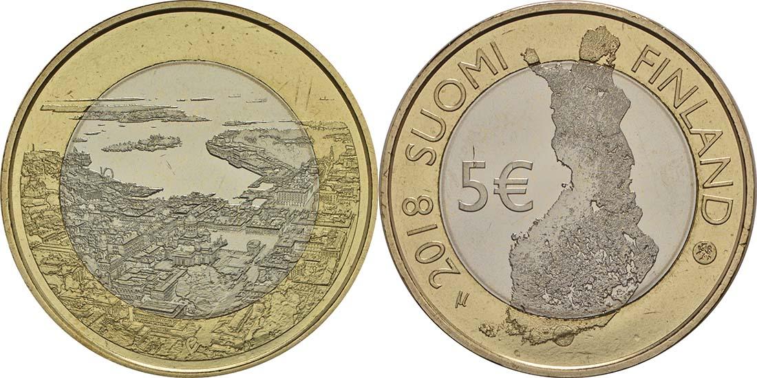 Lieferumfang:Finnland : 5 Euro Maritimes Helsinki  2018 bfr