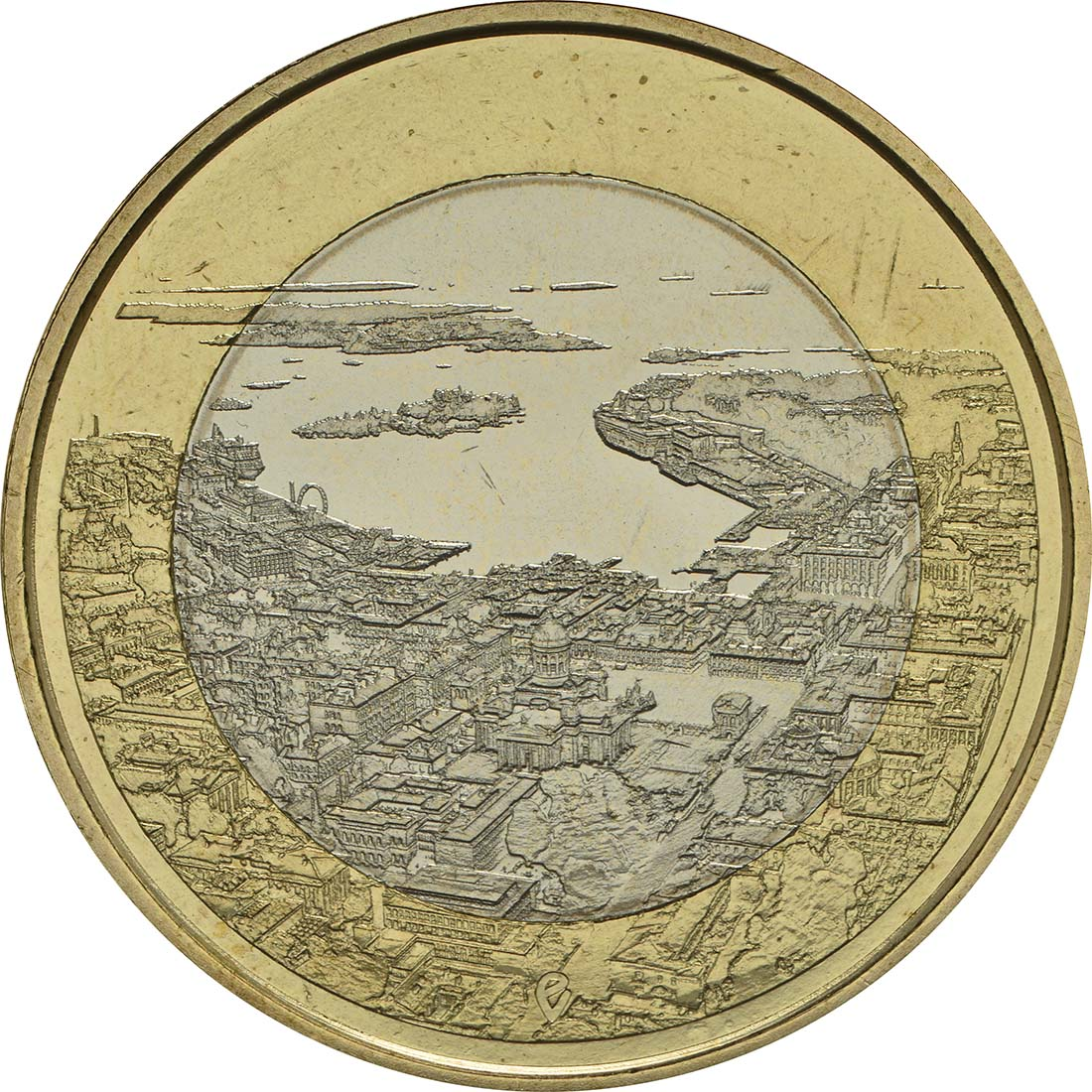 Vorderseite:Finnland : 5 Euro Maritimes Helsinki  2018 bfr
