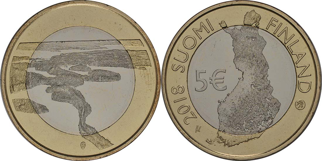 Übersicht:Finnland : 5 Euro Punkaharju-Grat  2018 bfr