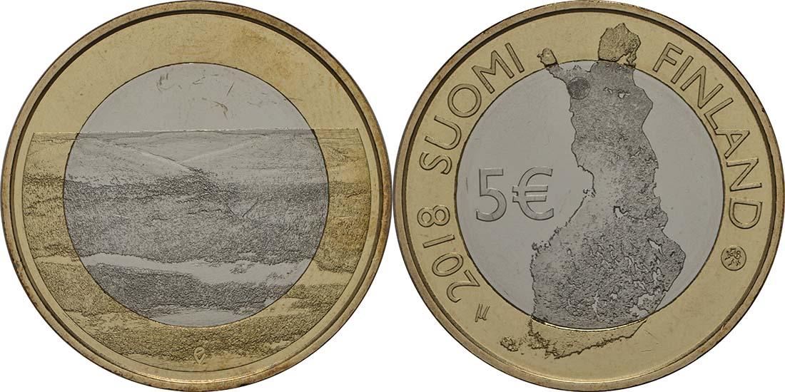 Lieferumfang:Finnland : 5 Euro Pallastunturi Fels  2018 bfr