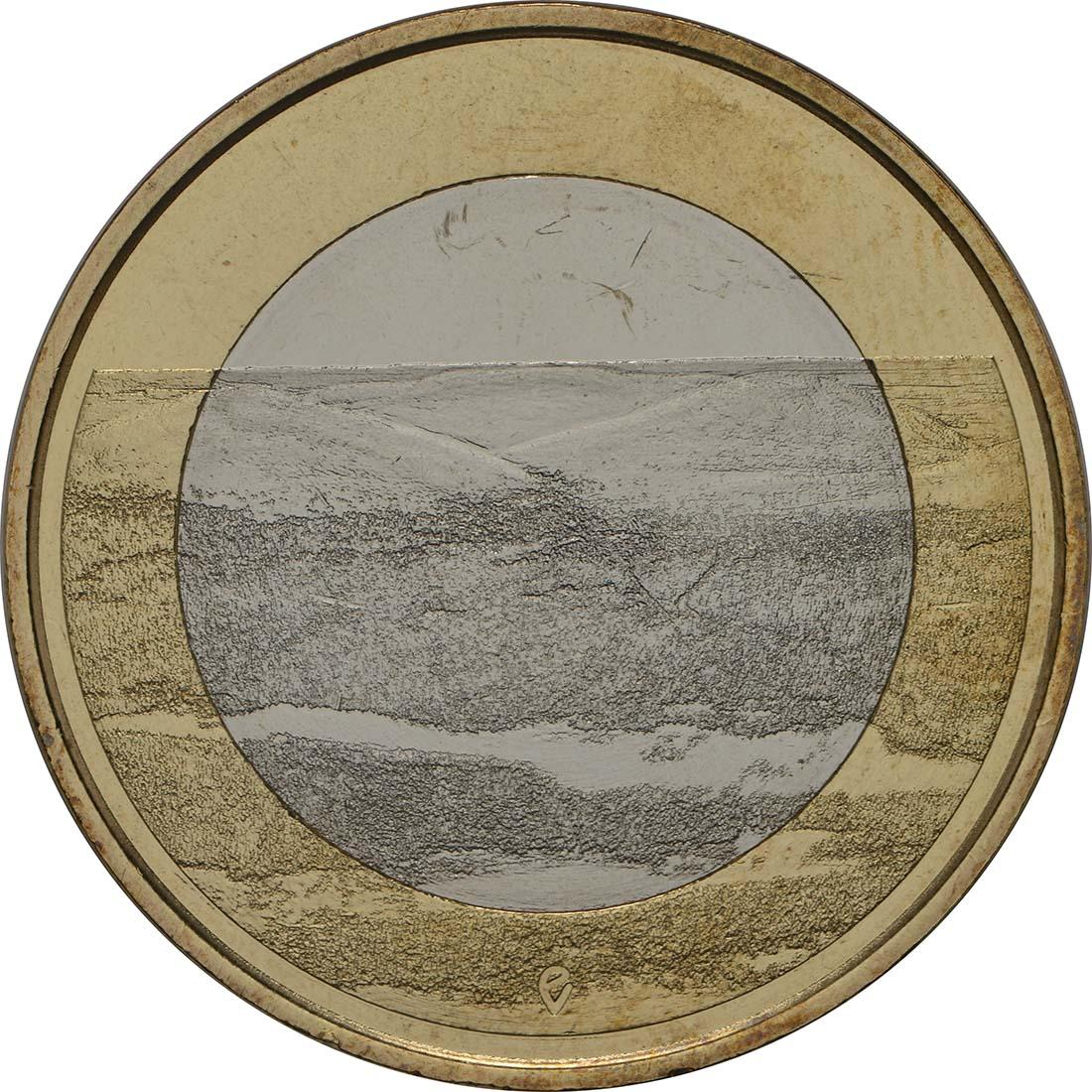 Vorderseite:Finnland : 5 Euro Pallastunturi Fels  2018 bfr