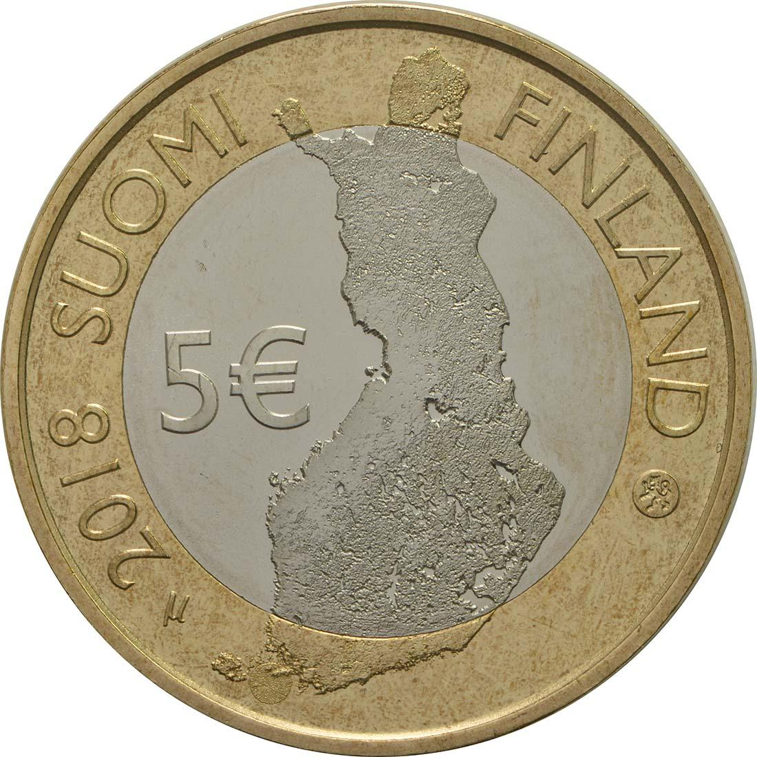 Rückseite:Finnland : 5 Euro Schärenmeer  2018 bfr