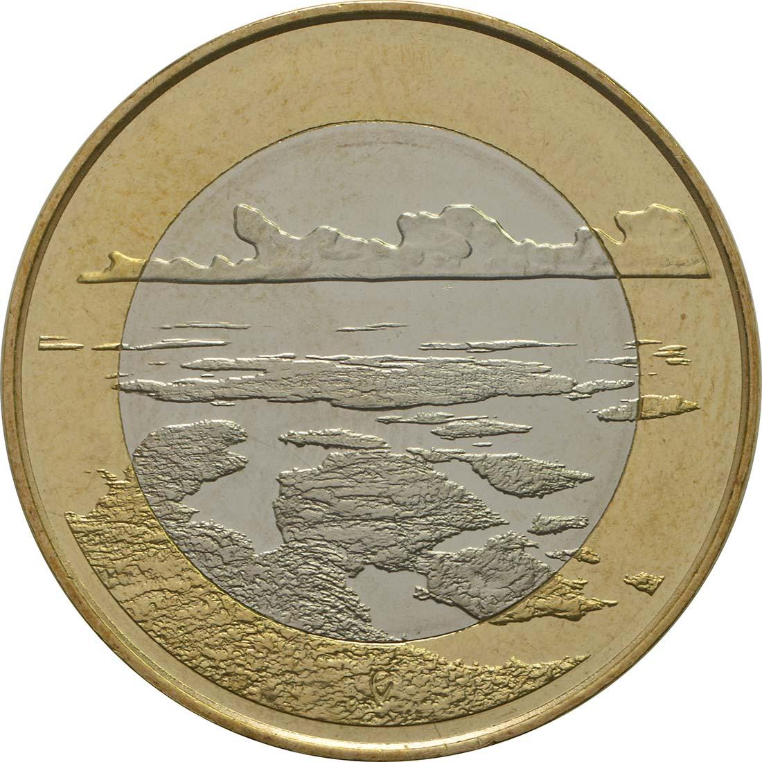 Vorderseite:Finnland : 5 Euro Schärenmeer  2018 bfr