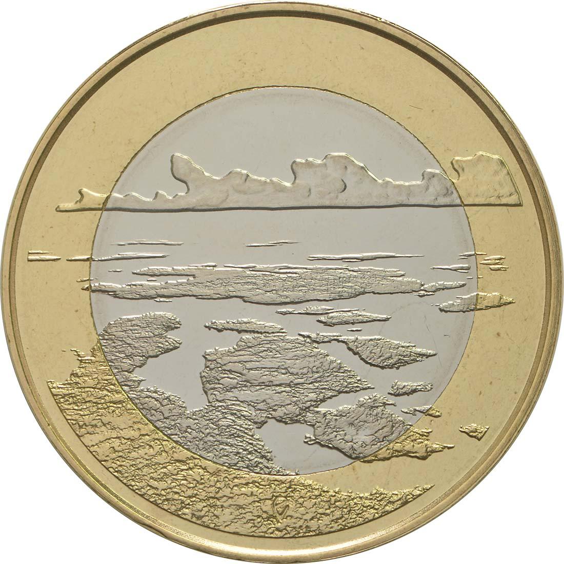 Vorderseite:Finnland : 5 Euro Schärenmeer  2018 PP