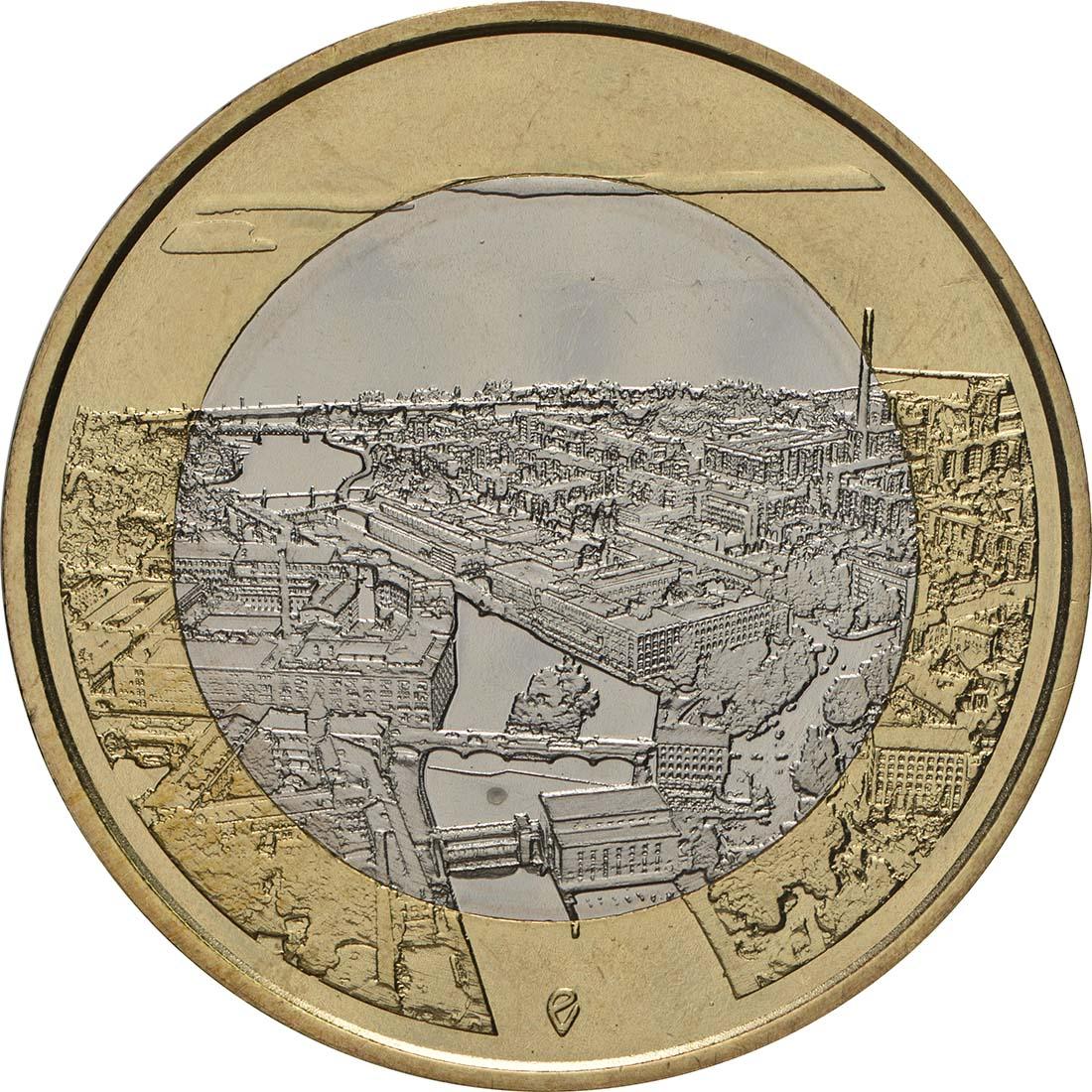 Vorderseite:Finnland : 5 Euro Tammerkoski-Stromschnellen  2018 bfr
