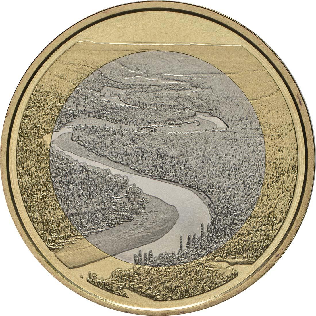 Vorderseite:Finnland : 5 Euro Fluss Oulankajoki  2018 PP