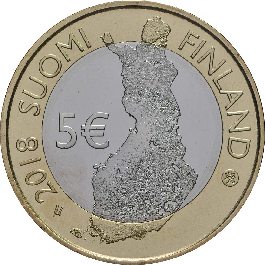 Rückseite:Finnland : 5 Euro Fluss Porvoonjoki  2018 bfr