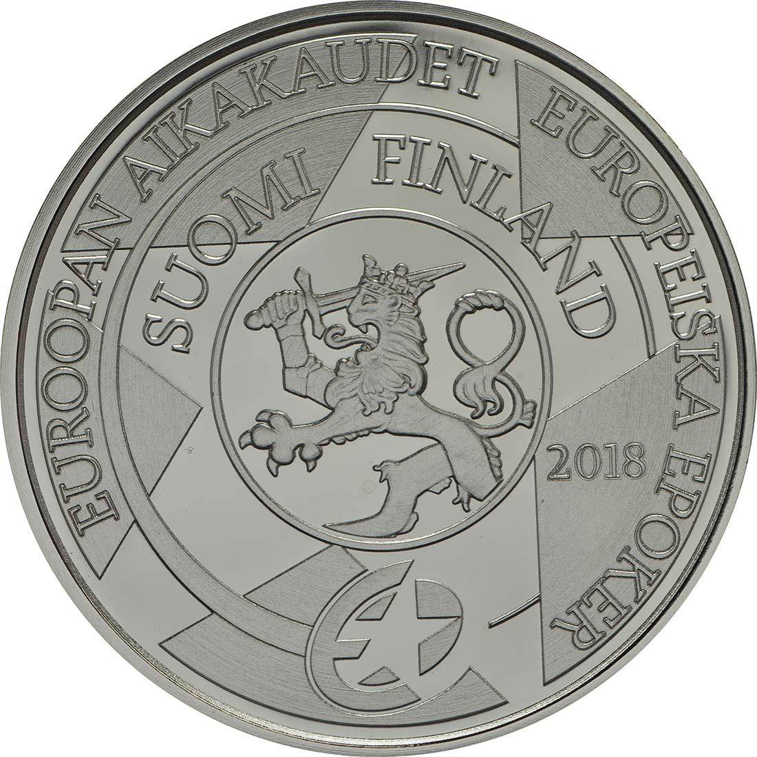 Rückseite:Finnland : 10 Euro Barock und Rokoko  2018 PP