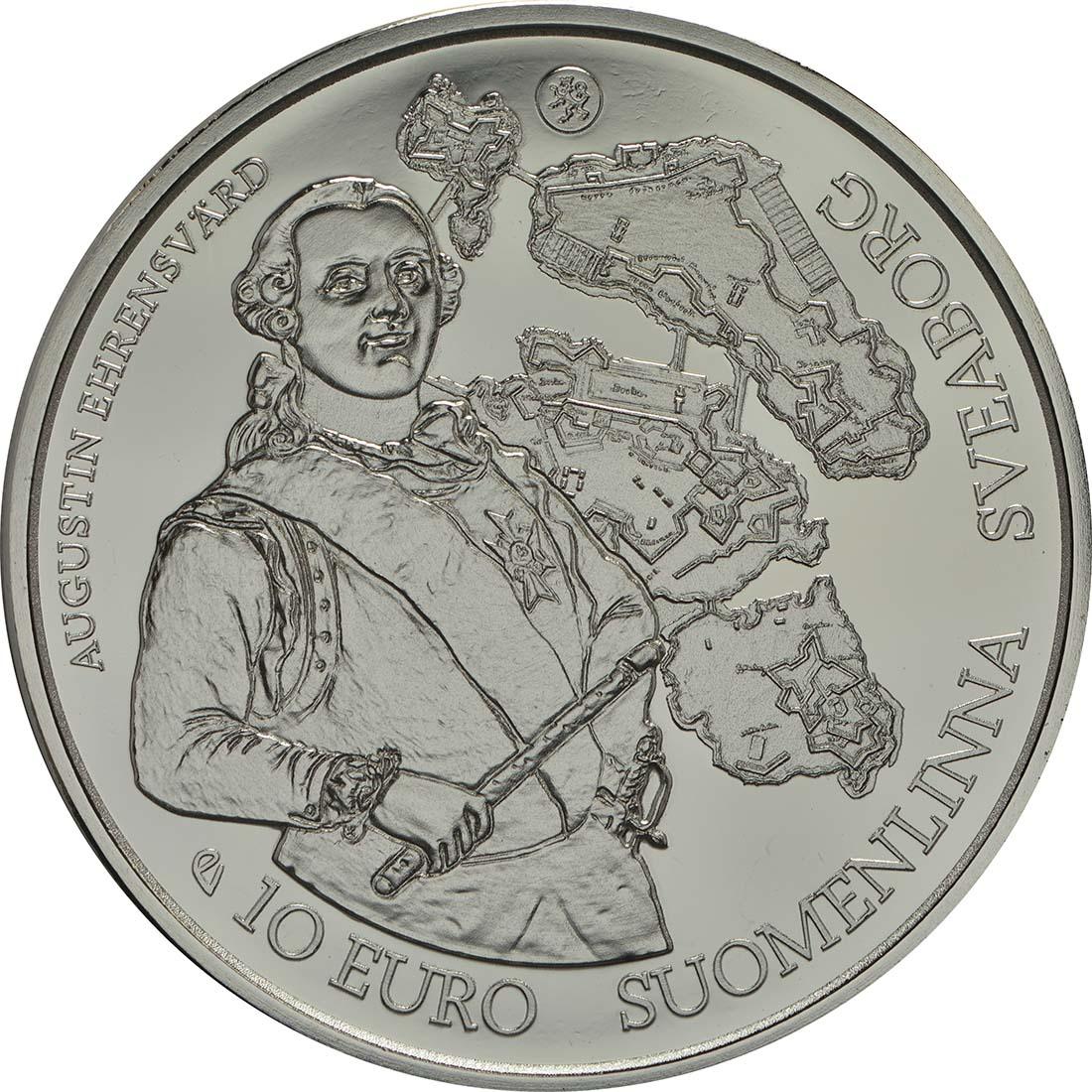 Vorderseite:Finnland : 10 Euro Barock und Rokoko  2018 PP