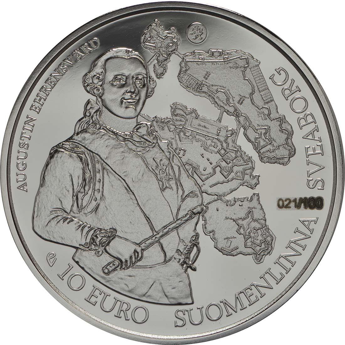 Vorderseite :Finnland : 10 Euro Barock und Rokoko  2018 PP