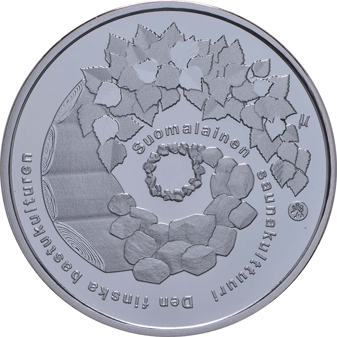 Rückseite:Finnland : 10 Euro finnische Saunakultur  2018 PP
