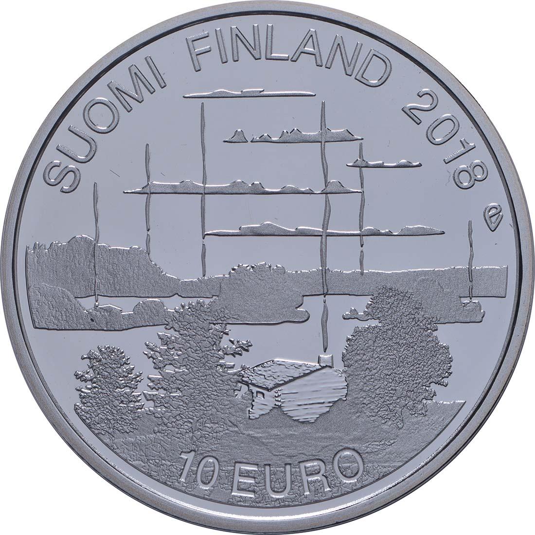 Vorderseite:Finnland : 10 Euro finnische Saunakultur  2018 PP