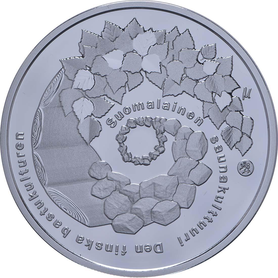 Rückseite:Finnland : 20 Euro finnische Saunakultur  2018 PP
