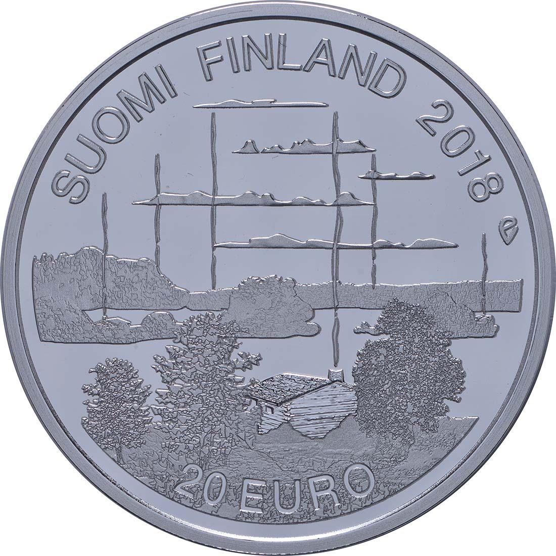 Vorderseite:Finnland : 20 Euro finnische Saunakultur  2018 PP