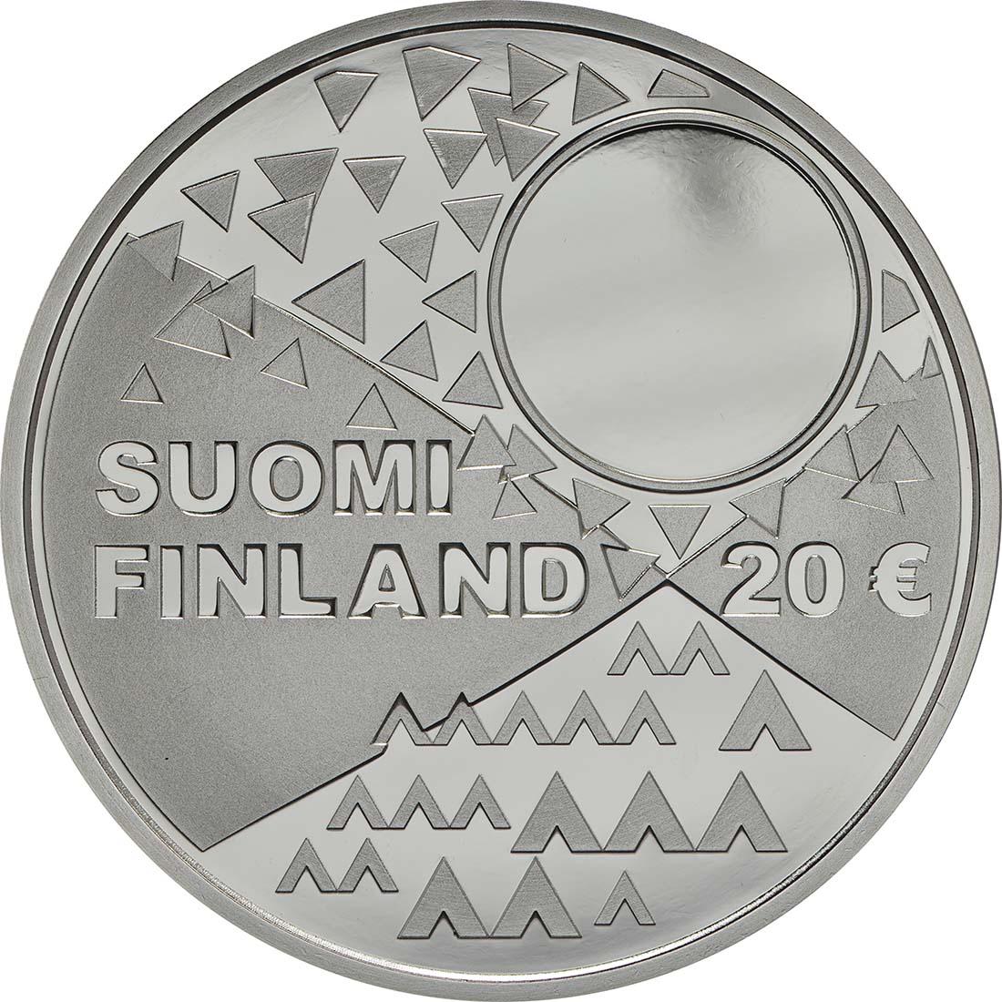 Rückseite :Finnland : 20 Euro Samische Kultur  2018 PP