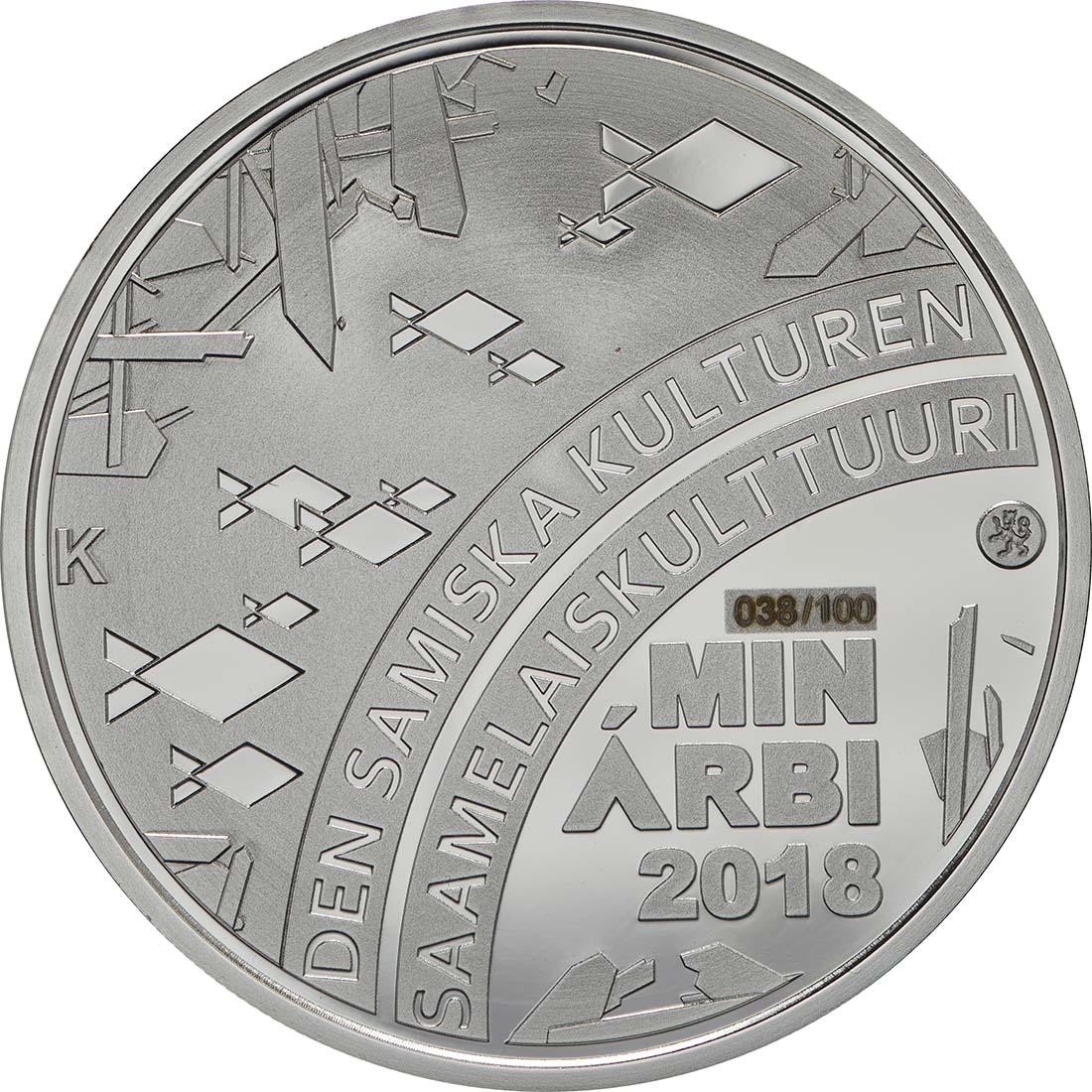 Vorderseite :Finnland : 20 Euro Samische Kultur  2018 PP