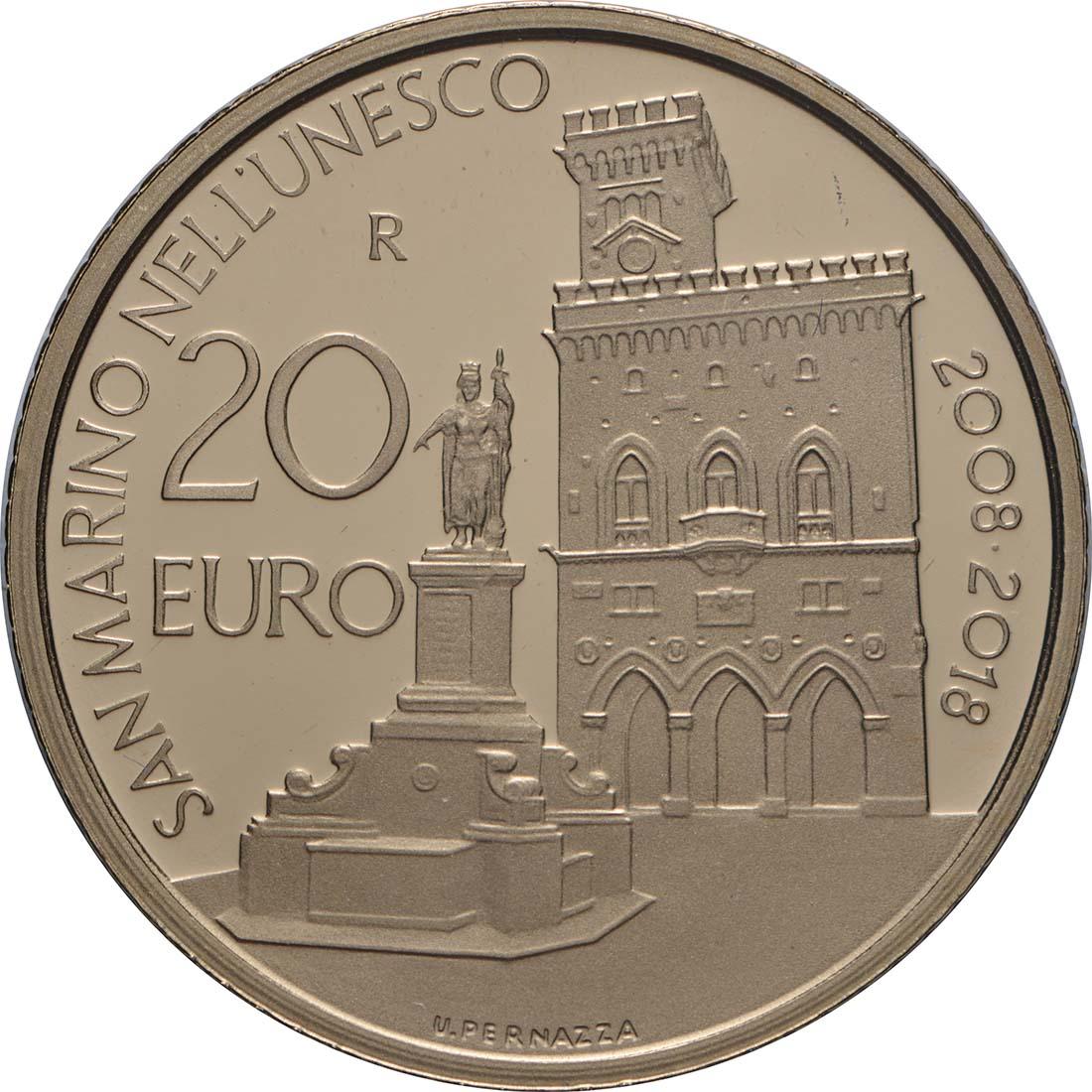 Vorderseite:San Marino : 20 Euro Monte Titano   2018 PP