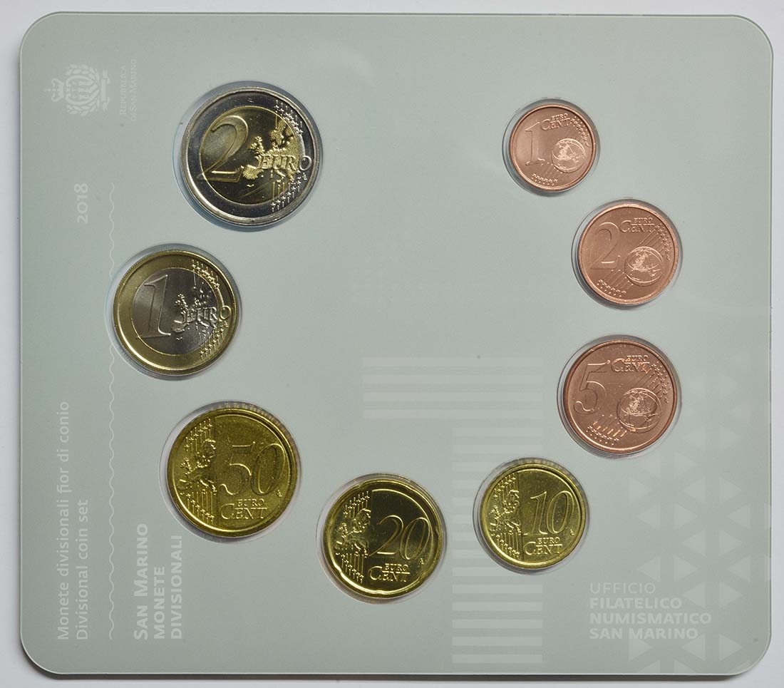 Rückseite:San Marino : 3,88 Euro KMS San Marino  2018 bfr