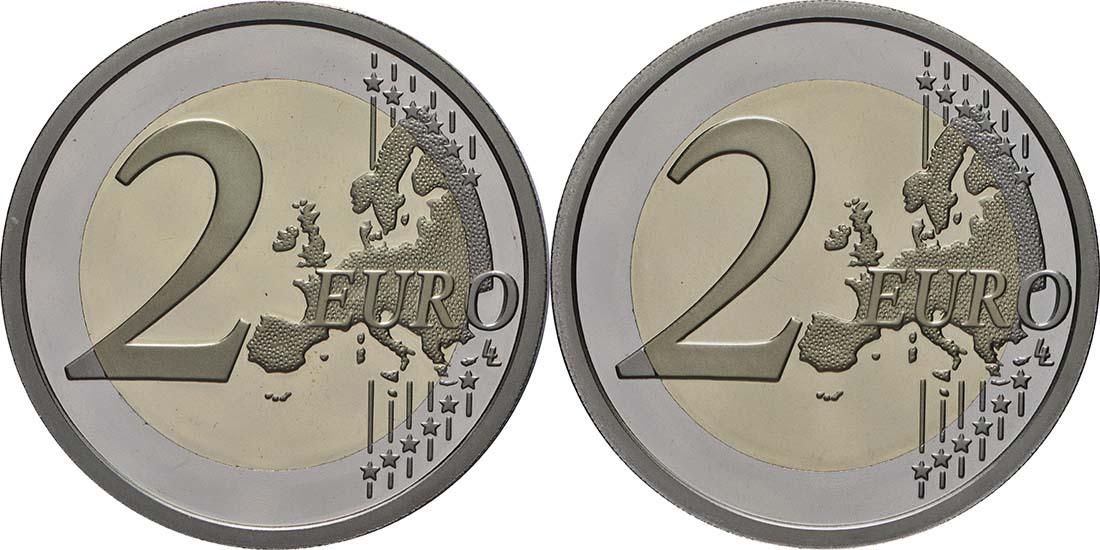 Vorderseite:San Marino : 7,88 Euro KMS San Marino mit beiden 2 Euro Gedenkmünzen Bernini und Tintoretto  2018 PP