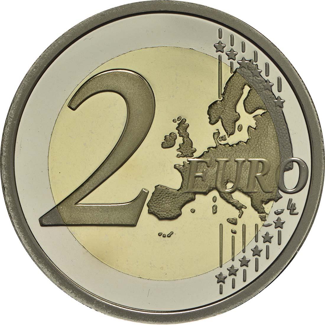 Vorderseite:Italien : 2 Euro 70 Jahre Verfassung Italiens  2018 PP